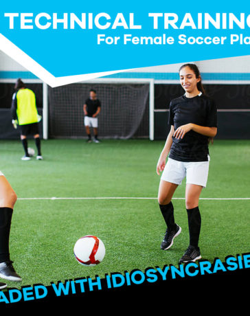 Female players & soccer training